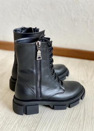 Натуральная кожа! ботинки, берцы 36-41р