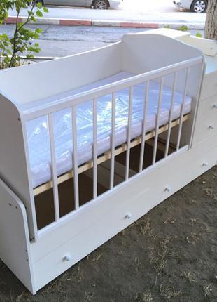 Кроватка трансформер, модель 3 в 1