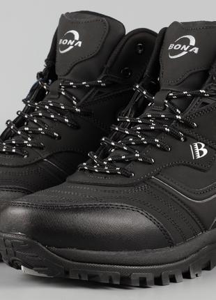 Ботинки мужские Bona 760D-8 черные великаны Размеры 47 48 49 50
