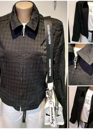 Черная базовая куртка пиджак жакет блейзер кардиган
