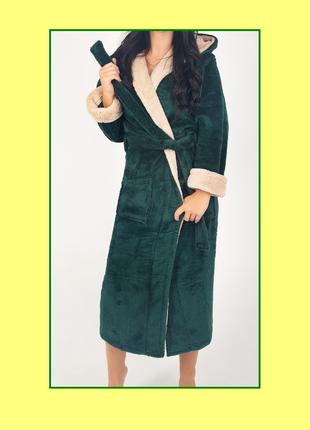 Женский махровый халат, большой размер, батал
