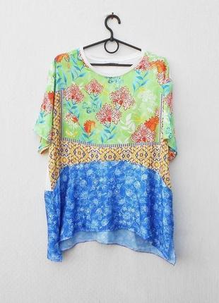 Летняя легкая свободная блузка с коротким рукавом 🌿