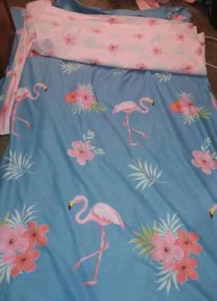 Невероятно милое постельное с фламинго полуторка с наволочкой ...