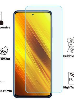 Защитное закаленное стекло TEMPERED GLASS к телефону POCO X3 NFC