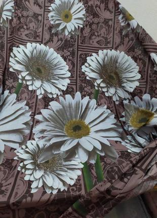 Постельное белье ромашки коричневые всё размеры