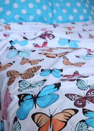 Постельное белье бабочки в горошек