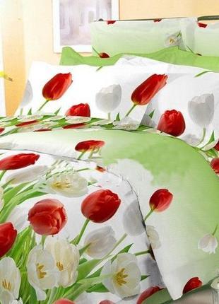 Постельное белье тюльпаны, все размеры