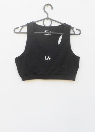 Черный спортивный топ без косточек  женская спортивная одежда ...