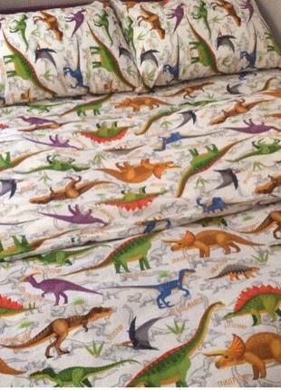 Постельное белье динозавры, полуторка в наличии