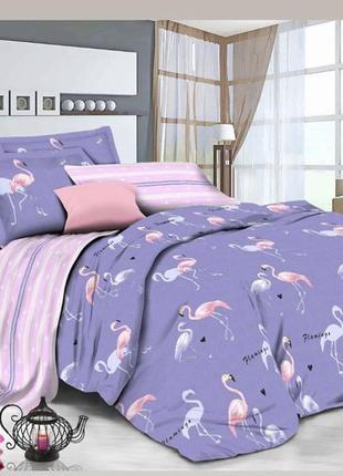 Постельное белье фламинго в наличии бязь