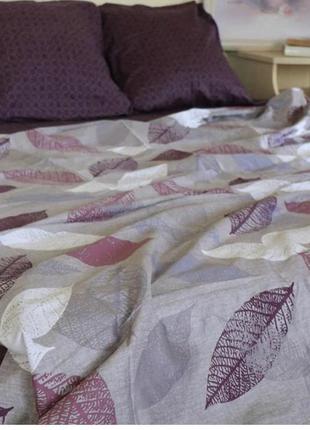 Постельное белье листья макарами в наличии бязь голд