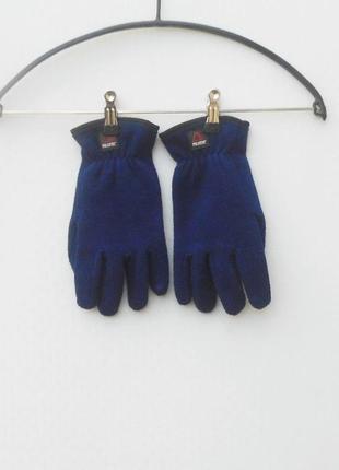 Синие флисовые перчатки polartec