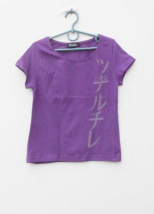 Трикотажная футболка с надписью со стразами