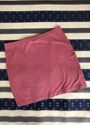 Бордовая мини юбка бордова спідниця