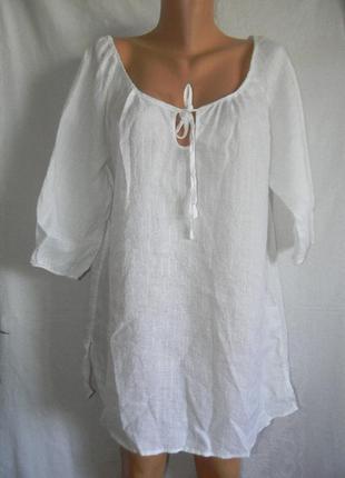 Белая натуральная блуза