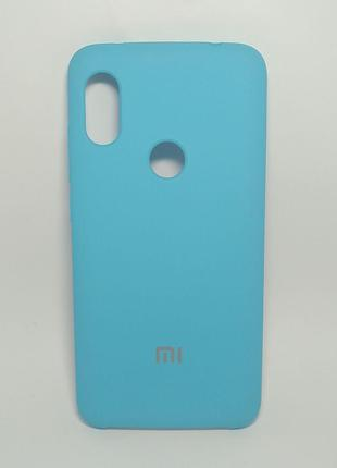 Задня накладка Xiaomi Note 6 Pro Silicone Cover Blue