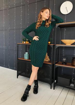 вязаное платье футляр дв 9190