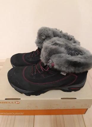 Женские зимние ботинки merrell меррелл теплые 38 р как новые