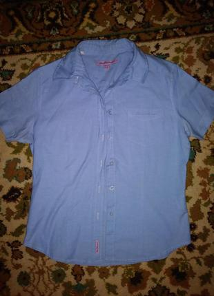 Рубашка хлопковая под джинс, джинсовая