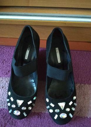Туфли натуральный замш