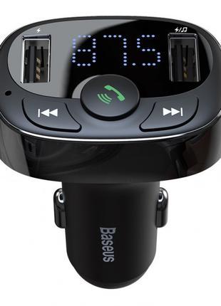 FM-модулятор Baseus S-09A T typed (Bluetooth, MP3)