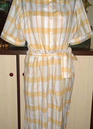 Платье рубашка длиною миди