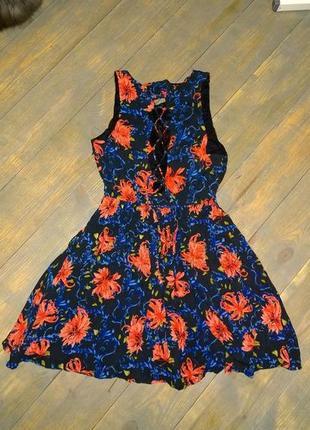 Распродажа летнего сезона!! хлопковое платье со шнуровкой на с...