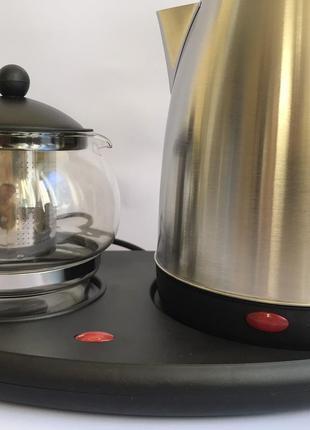 Электрический чайник TEAFAELL TF-200 с чайничком для заварки чая