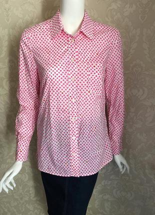 Стильная яркая рубашка блузка блуза gap красного цвета в горох