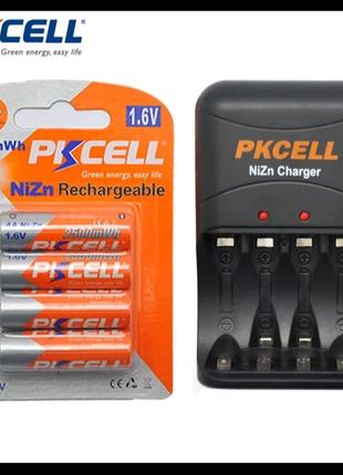 Аккумуляторы Ni-Zn PKCELL AA 1,6В+зарядное Ni-Zn