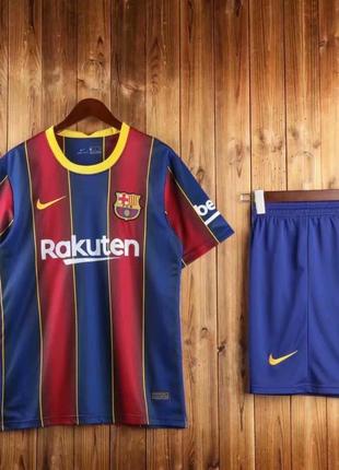 Детская Футбольная Форма Барселона Сезон 2020-2021 Домашняя