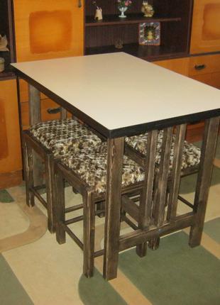 Комплект мебели для кухни стол+4 табурета