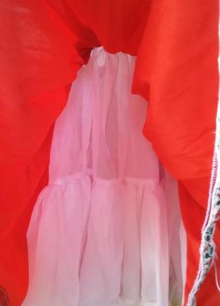 Пышное платье в украинском стиле 3-4 года+подарок!