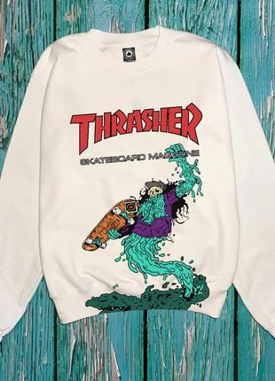 Thrasher свитшот • реальные фото бирки • трешер свитшот