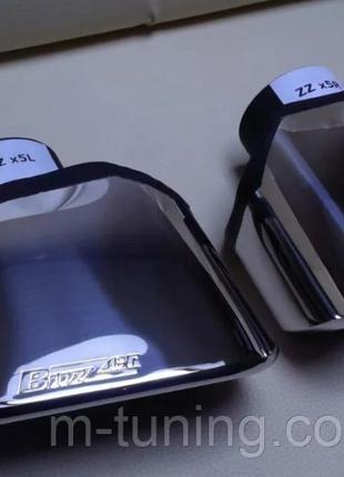 Насадки BMW X5 E70 стиль 4.8 насадка выхлоп бмв х5 е70