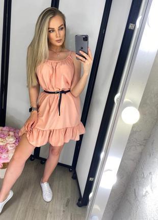 Платье с поясом🔥