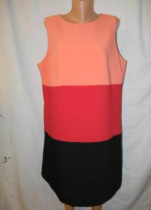 Красивое комбинированное платье большого размера f&f