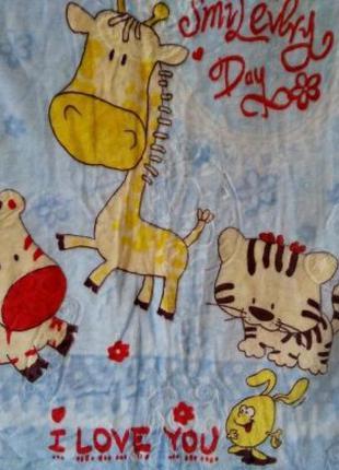 плед-одеяло двойное махровое детское