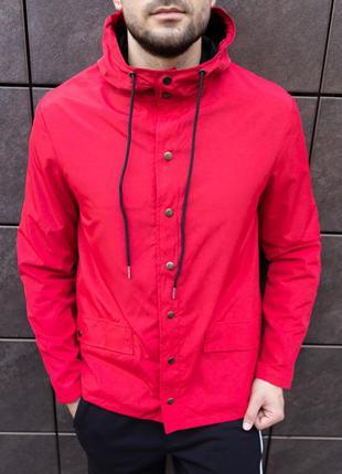 Куртка -ветровка river на подкладе, красная