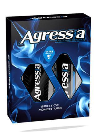 Набор Agressia Sensetiv шампунь + крем для бритья