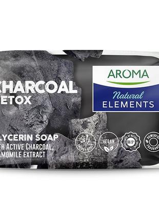 Глицериновое мыло Aroma Natural Active Charcoal