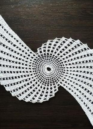 Серветка бумеранг/салфетка бумеранг белая декоративная