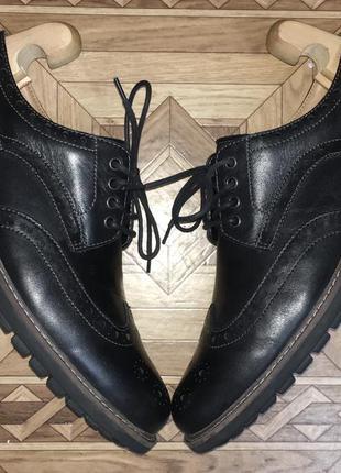 Стильные мужские броги туфли clarks{оригинал}р.44-45