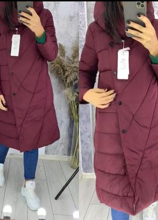 Шикарная куртка-пальто на зиму.