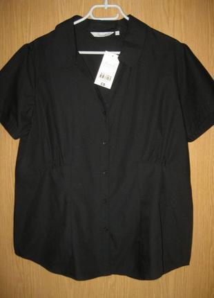 """Новая черная блузка """"peacocks"""" р. 54"""