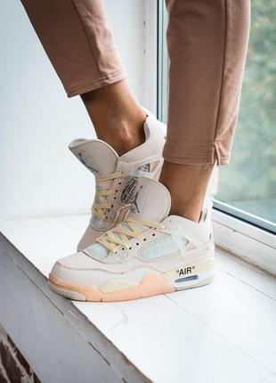 Кросівки nike off-white x air jordan 4 кроссовки