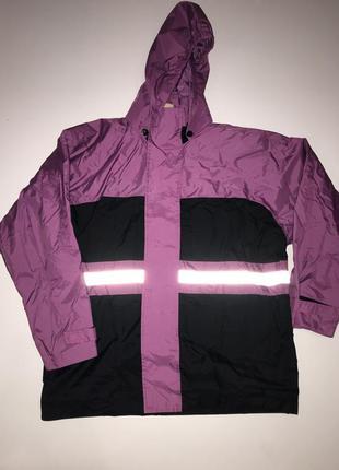 Куртка ветровка плащ не промокаемая дождевик светоотражающая р...