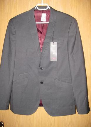 "Новый серый пиджак "" m&s "" w38м"