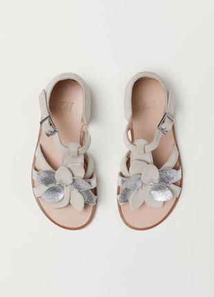 Кожаные сандалии босоножки h&m для девочки