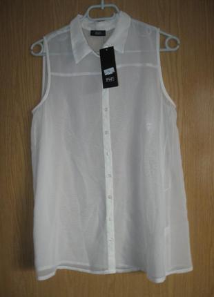 """Новая полупрозрачная блузка """"f&f"""" р. 48"""